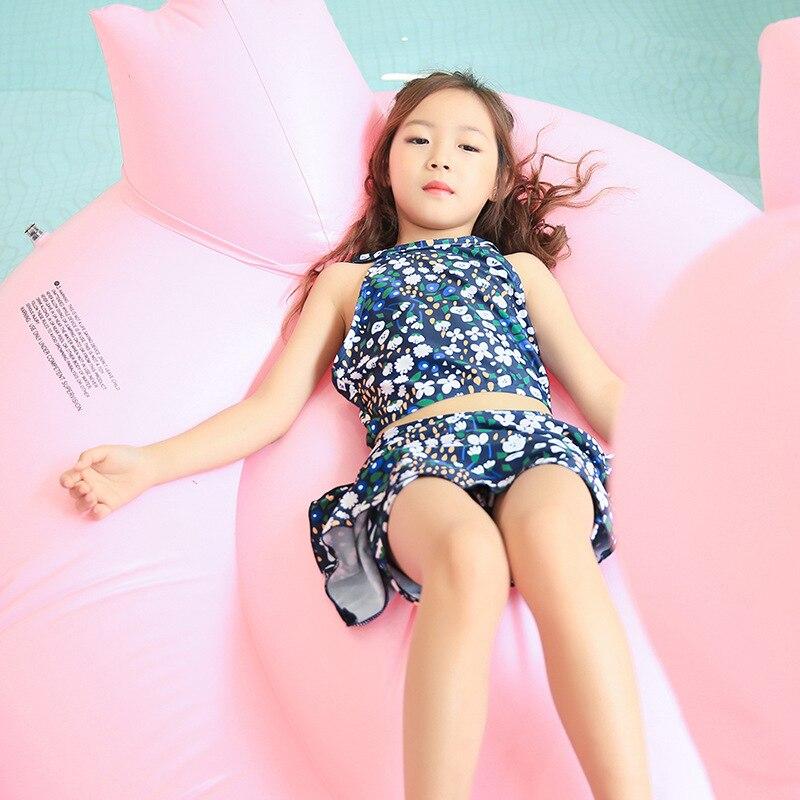 New Style KID'S Swimwear GIRL'S Split Skirt-Tour Bathing Suit Big Virgin Girls Cute GIRL'S Korean-style Baby Swimwear