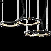 Einfache Moderne Kunst Kreis Metall Ring Anhänger Lichter Minimalist Nordic Led Hängen Lampe Esszimmer Restaurant Wohnzimmer Speichert