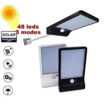 Solar Street Light Outdoor 48 LED PIR Motion Sensor Solar Lamp 3 modes Outdoor light wall lamp Waterproof Energy For Home Garden