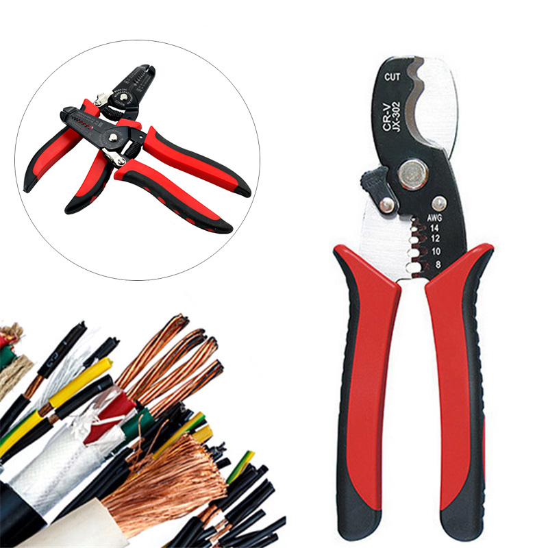 Multi Tools Pliers Stripper Cutter Cable Wire Capability Portable Wire Stripper Knife Crimper Acutomatic Electrical Repair Tools