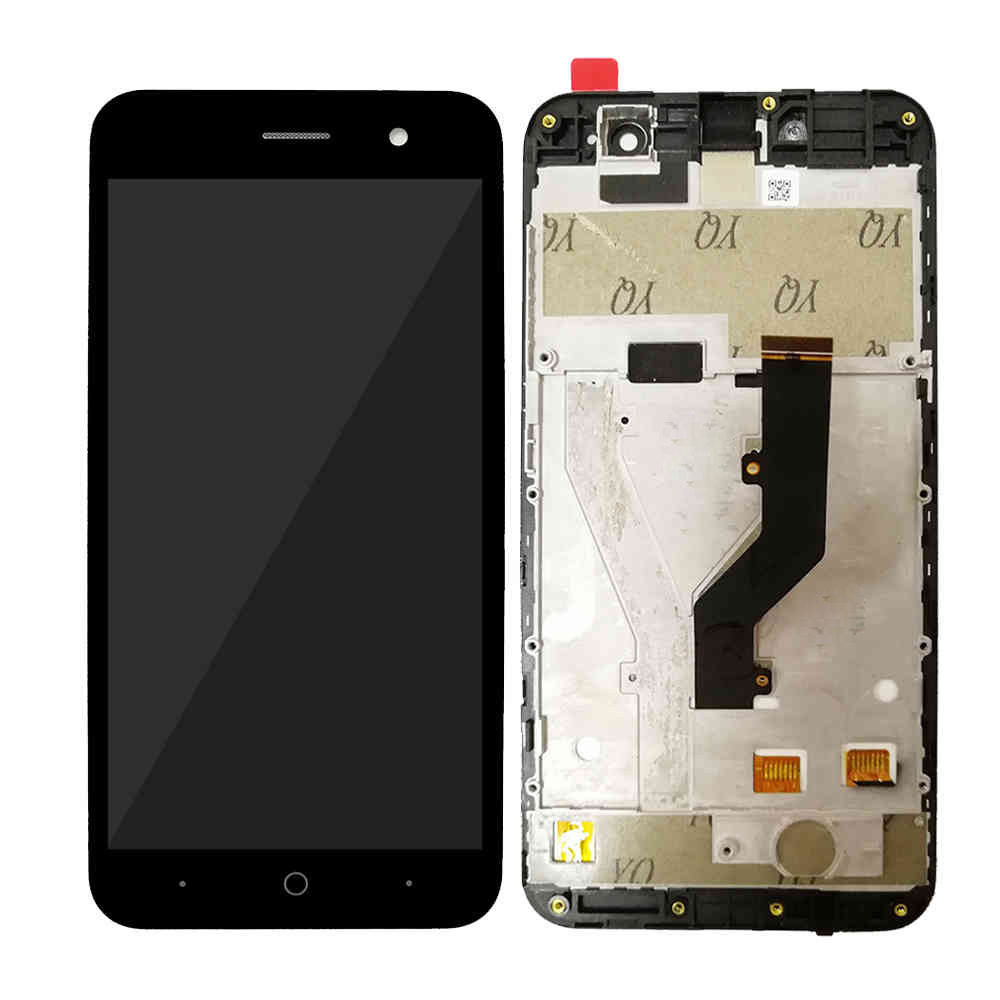 Black For <font><b>ZTE</b></font> <font><b>Blade</b></font> <font><b>A520</b></font> LCD Display and Touch <font><b>Screen</b></font> Digitizer Assembly With Frame image
