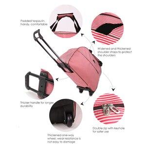 Image 4 - Julysong s canção oxford rolando bagagem mala de viagem com rodas trole bagagem para homem/mulher levar em sacos de viagem