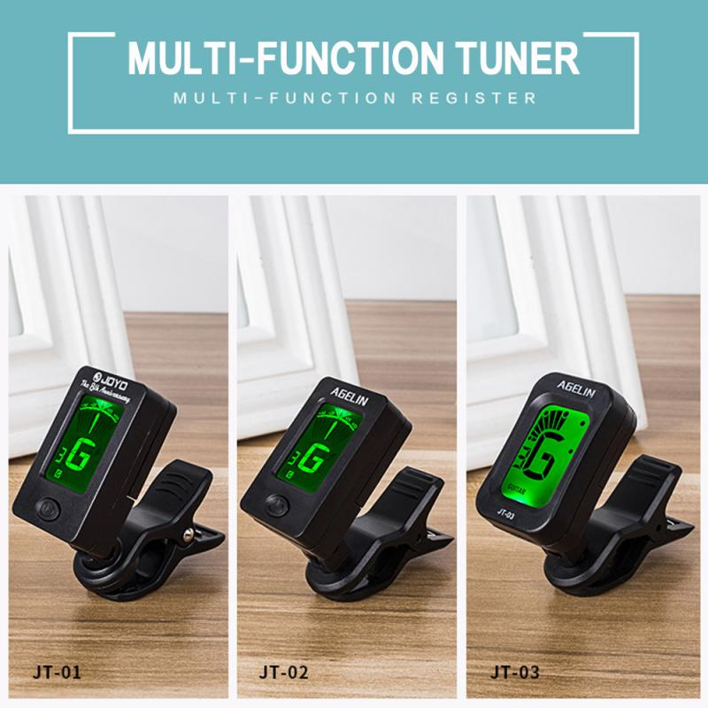 Digital Chromatic LCD Clip-On Electric Tuner For Bass Guitar Ukulele Violin Acoustic Guitar Tuner Electronic Tuner Stringed