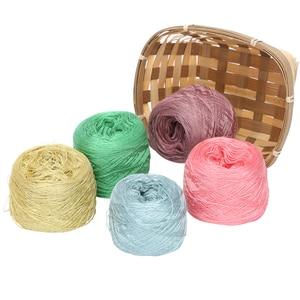 Image 5 - 300G Italiaanse Moerbei Zijde Garen Voor Breien Katoenen Draad Croche Lijn Zijde Stof Designer Koel In De Zomer Ijs Zijde knit ZL4