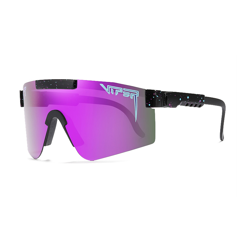 2020 NEW Oversized Sunglasses polarized mirrored RED PURPLE BLUE lens tr90 frame protection Men Sport pit viper high quality
