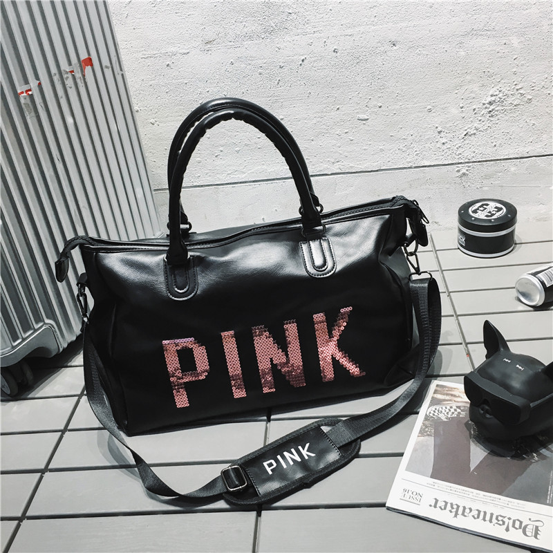 2020 New Style Pink Bag Fashion Handheld Traveling Bag Luggage Bag Large Capacity Sports Bag Fitness Yoga Duffel Overnight Bag