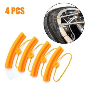 4 Pcs Motorcycle Car Tyre Wheel Rim Edge Protectors Tire Protective Cover Changing Remove Disassembly Tool