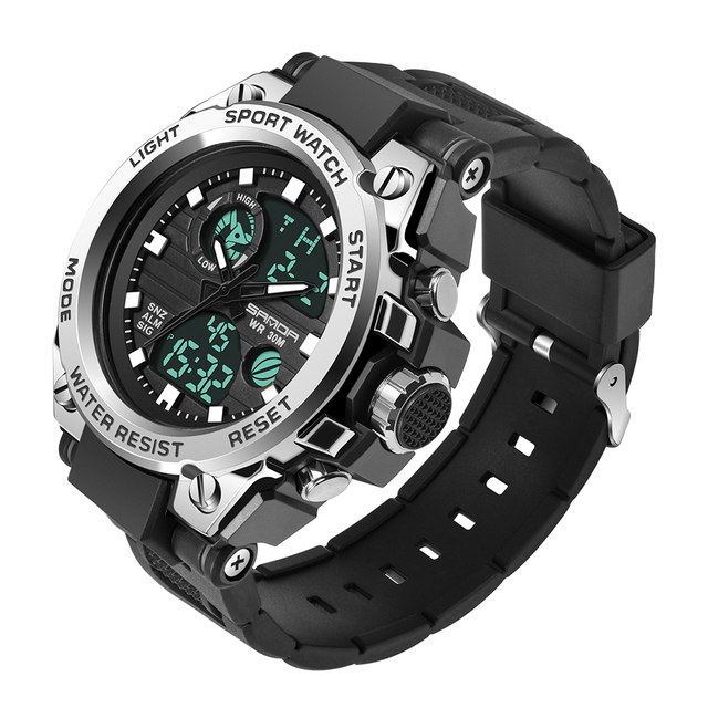 SANDA Military Quartz Shock Watch  4