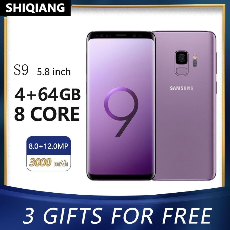Разблокировка Samsung Galaxy S9 оригинальная б/у телефона 5,8 дюймовый смартфон 2 сим-карты, Octa Core, 4 Гб + 64 Гб лицевая сторона ID мобильный телефон Android ...