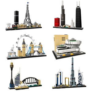 Image 1 - Architektur Paris Dubai London Sydney Chicago Shanghai Bausteine Kit Bricks Classic City Modell Kind Spielzeug Für Kinder Geschenk