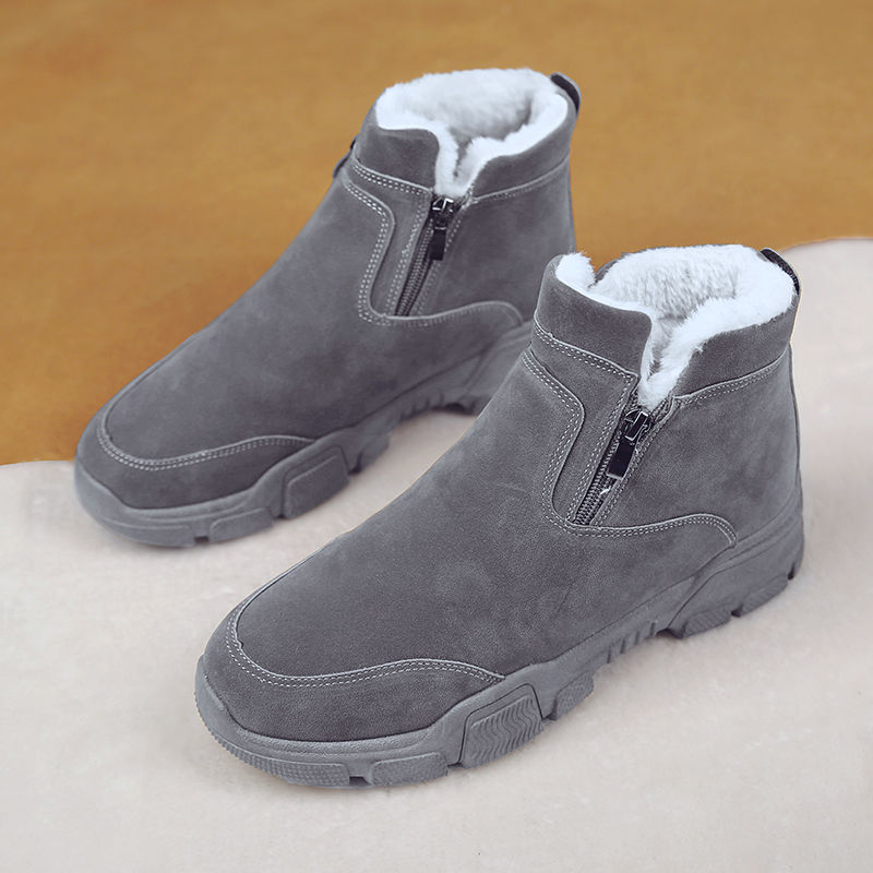 Ola Style Retro Boots Ankle Snow Boots Men Large Size 39-47 Suede Male Winter Shoes Warm Boots