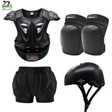 WOSAWE Children Kids Armor Jacket Shoulder Chest Hip Protector Vest Protective Set Pad Skate Ski Snowboard Sports Safety Support
