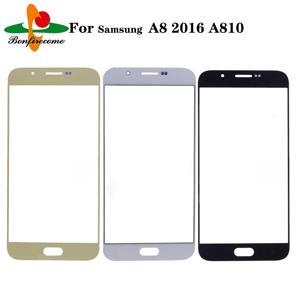 10Pcs\lot For Samsung Galaxy A8 2016 A8100 A810 A810F A810DS A810FD A810M LCD Front Touch Screen Glass Outer Lens Replacement image