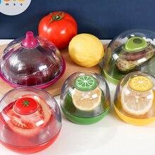 1 шт еды коробка для хранения бананов и растительная форма креативная коробка для хранения лука и томатный контейнер запечатанную коробку, ...