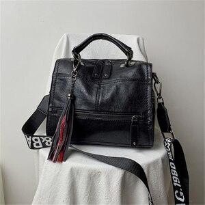 Image 4 - Genuine Leather Tassel Luxury Handbags Women Bags Designer Handbags High Quality Ladies Hand Bags For Women 2019 Bolsa Feminina