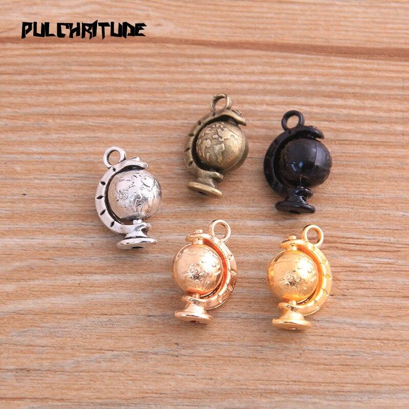 Tibetan Silver World//Globe Charm 5 per pack