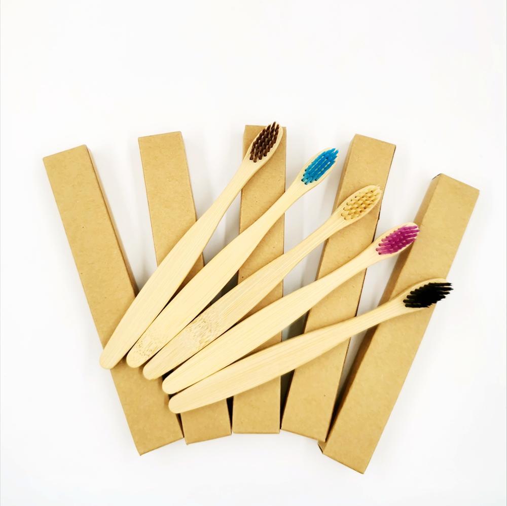 Natural Bamboo Toothbrush Set  2