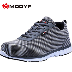 Image 5 - MODYF Men's' Steel Toe Safety Work Shoes Lightweight Breathable Construction Sneaker Anti smashing Non slip Reflective Shoes