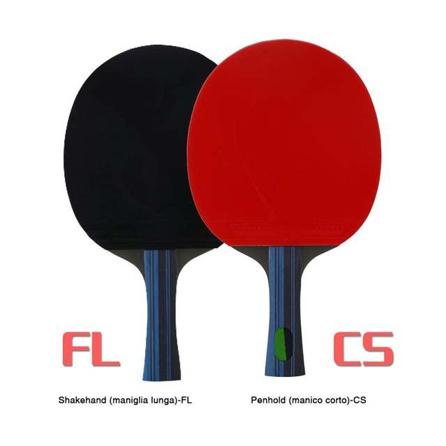 Table Tennis Racket Double Side Pimples-in Rubber Wooden Bottom Ping-pong Bats Racquet Sports Accessories With Balls Bag 6