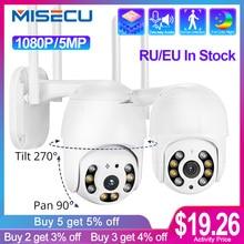 MISECU H.265X PTZ Wifi Ip kamera 1080P 5MP Speed Dome AI Sicherheit Kamera Drahtlose ONVIF Audio Im Freien Wasserdichte IR farbe Nacht