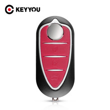 KEYYOU plegable funda de control remoto plegable para Alfa Romeo Mito 2008-2018 Giulietta 2010-2016, 159 GTA 147 de 156 GT 166 Brera TS