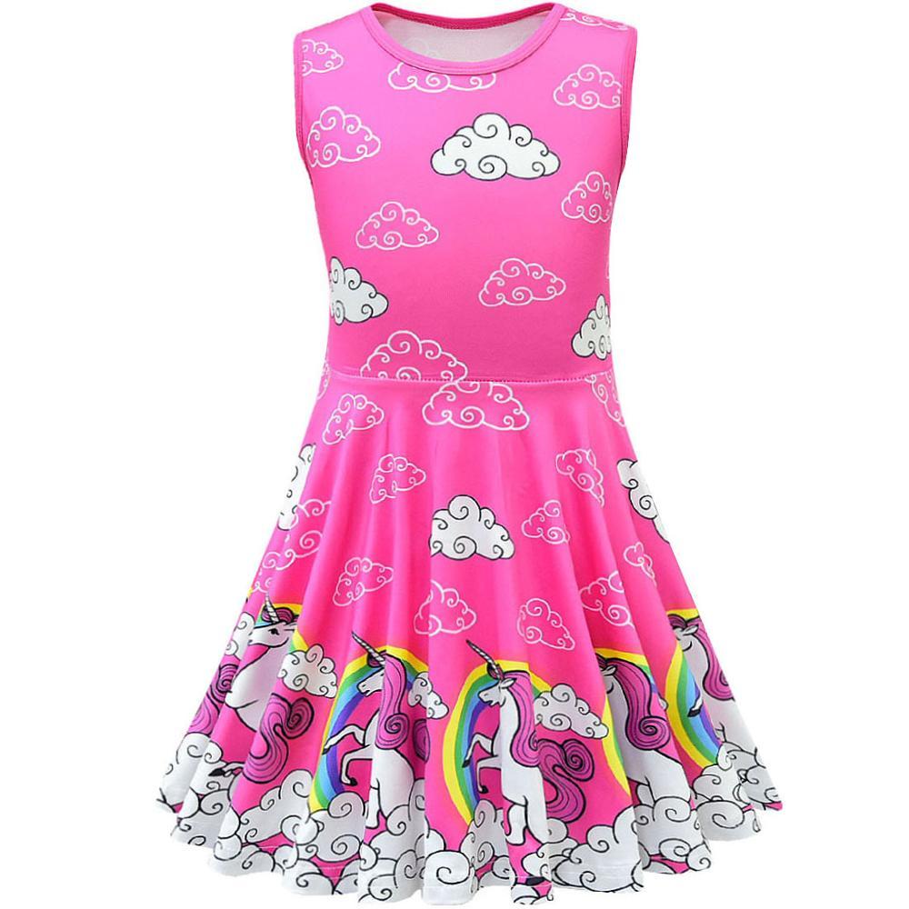 Unicorn Dress Girl Summer Princess Baby Party Frocks For Kids Vestidos Infantil Roupas Infantis Menina Toddler Haloween Costume 5