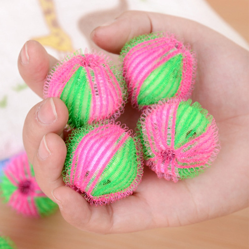 6Pcs/set Washing Ball  Reusable Clean Tools Washing Machine Balls Magic Decontamination Plastic Laundry Ball Dryer Balls