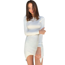 Dress Women Street New Female Solid Color Pullover Long Sleeve O-neck Clothing Sexy Dresses Party Night Club