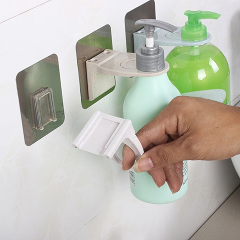 Liquid Soap Holder Hanging Rack Shower Gel Bottle Holder Strong Bathroom Shampoo Hook Household Bathroom Hardware