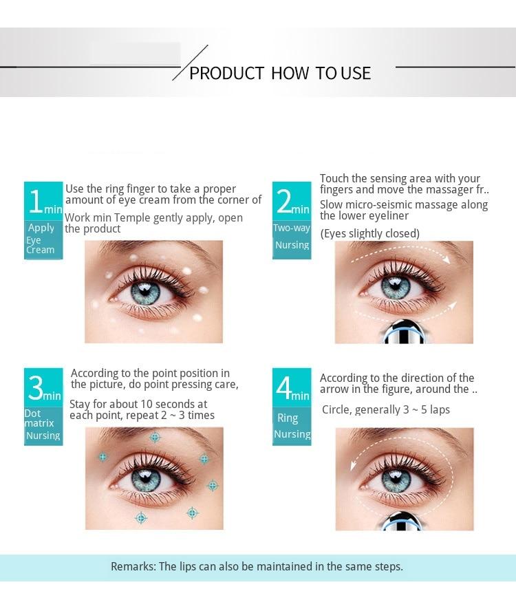 com a pele ferramentas iontoforetic olho beleza