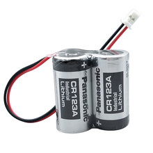 Baterias industriais do plc do lítio da bateria de panasonic cr123a 2cr17335a MR-BAT6V1SET 6v 1400mah com plugue para a câmera video de digitas