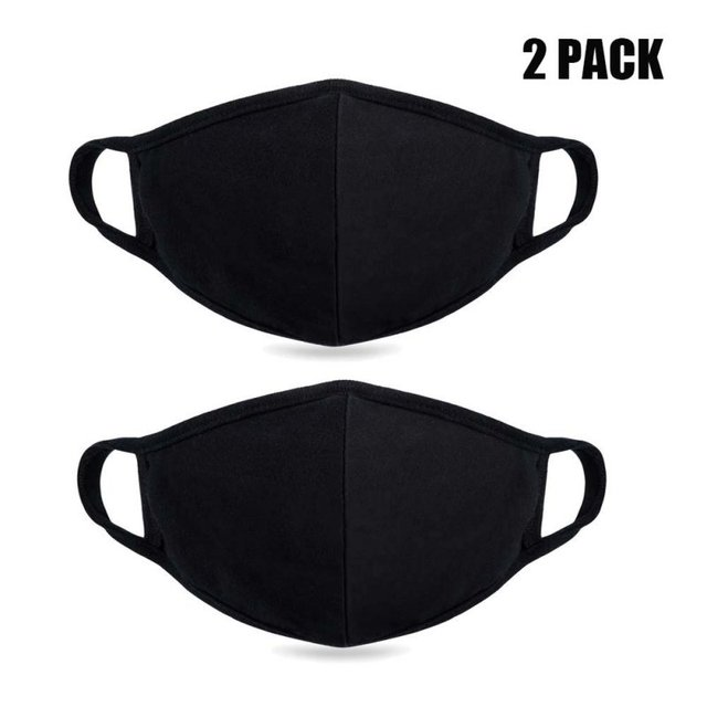 Unisex Mouth Mask Adjustable Anti Dust Face Mouth Mask,Black Cotton Face Mask For Cycling Camping Travel 1