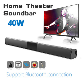 d6 speakers tv sound bar usb wired and wireless bluetooth home theater fm radio surround soundbar for pc tv speaker for computer Wireless Bluetooth Speaker 40W Home Theater TV Sound Bar Surround Stereo Subwoofer with Remote Soundbar for TV Computer boombox
