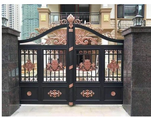 Shanghai Hench Aluminum Garden Fence Gate/Metal Yard Gates Design
