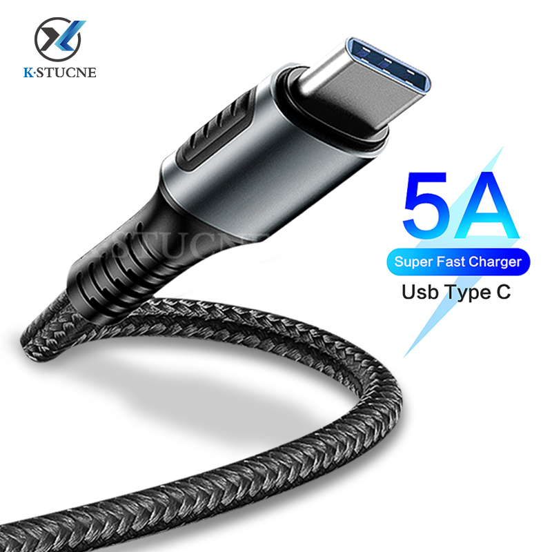 5A <font><b>USB</b></font> Type C Cable For Huawei P20 <font><b>Lite</b></font> <font><b>Honor</b></font> 20 10 <font><b>9</b></font> Pro 3.1 Fast Charging Data Cord For Xiaomi Redmi Note 8 7 Pro Type-C Cable image