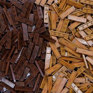 Image 2 - City Accessories Building Blocks 1x4 Flat Tile Floor Board Wall Wood Bricks House Farm Creator parts bulk military building Toys