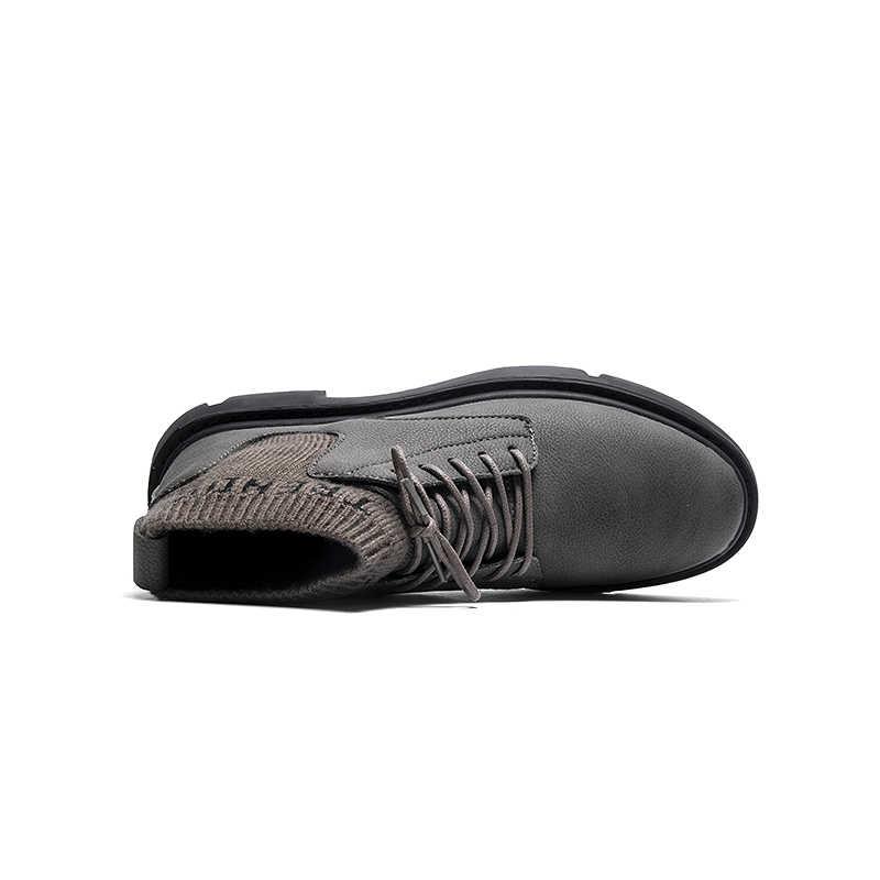 Stivali da Uomo inverno Avvio a Caldo Con calzino Maschio Impermeabile Scarpe Chaussure Mans casual Scarpe Per Gli Stivali da Uomo Calzature Uomo scarpe da ginnastica