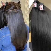 Ever Beauty – Extensions de cheveux brésiliens vierges, Yaki épais, lisse, texture lisse