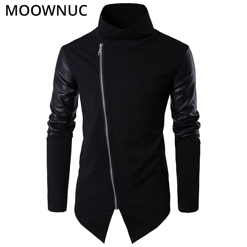 Fashion Sweater Cardigan Male Personality 2020 New Stand Collar Cotton Smart Casual Autumn Slim Homme Cardigan Men MOOWNUC MWC