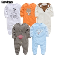Kavkas 2019 ready stock 0 12m cotton clothing climbing suit boy cartoon printed multicolor clothing