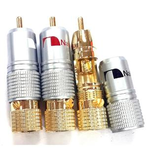 Image 4 - Haldane 8 adet/grup Nakamichi RCA fiş Ses Kablosu Konektörü 24K Altın Kaplama Vidalar Lehimleme Kilitleme Ses RCA fiş s