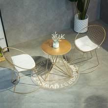 Meubles créatifs de chaise creuse nordique de fil, petites Tables et chaises récréatrices chaise en métal Simple chaise de concepteur moderne Golde