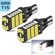 Bombilla LED Canbus W16W T15 para coche, sin Error, luz de respaldo, 921, 912, 12v, blanco, para Opel, Volvo, Porsche, Nissan, 2 uds.