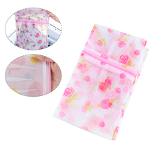 Zip Laundry Bags For Washing Machine Clothes Storage Net Bag Wash Bra Stocking And Underwear Lingerie Intimates Mesh Wash Tools cheap Foldable home polyester Cleaning HJ41661 30*40cm Random