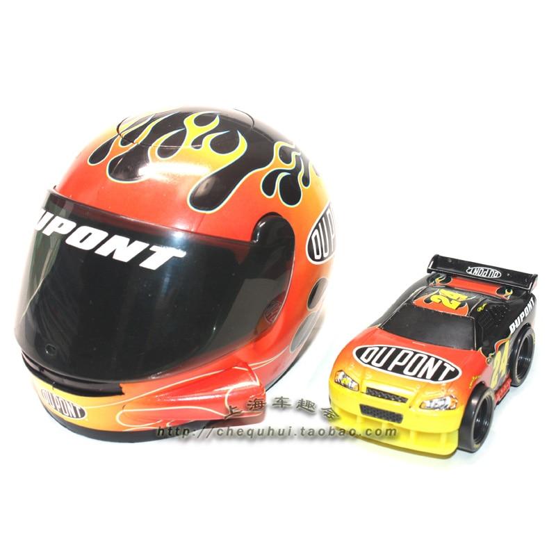 NASCAR Racing Helmet Model Furniture Launch Pad Set Skating Racing Toys Furnishing Vehicle Decoration Toy