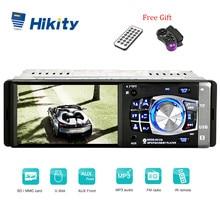 Hikity Авто Аудио 1din Автомагнитола 4 дюймов автомобильный стерео медиа MP5 плеер Bluetooth 4012B Авторадио SD USB TF Поддержка камеры заднего вида