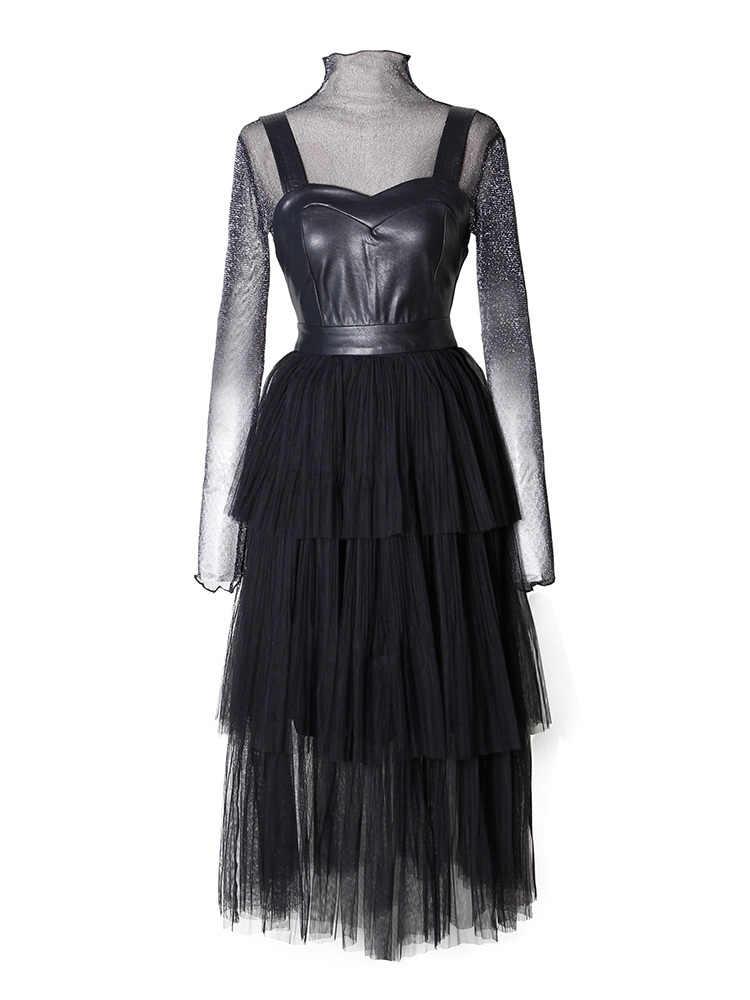 2020 Sexy soirée robe de soirée femmes Maxi printemps été robe moulante décontracté élégant femme maille dentelle robes Vestidos ZT1974