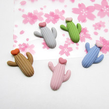 30pcs Baby Cute Cactus Resin Mini LOL Clay Hair Rope Hair Ring Headwear Hairpin Accessories Jewelry Accessories Wholesale(China)