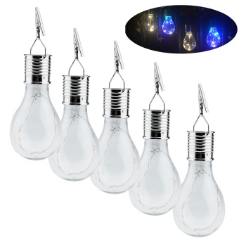 15PCS Portable Waterproof Solar Powered LED String Light Bulbs Hanging Lanterns For Outdoor Garden Camping Tent Yard Decor Lamp 4pcs led camping tent pavilion lantern yard outdoor hiking tent light camping hanging lamp