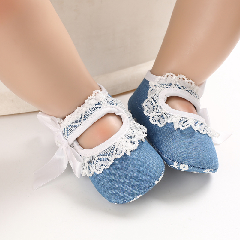 New Born Baby Shoes For Baby Girls Casual Solid Color Bow Decoration Breathable Cotton Baby Girl Shoes Toddler Shoes
